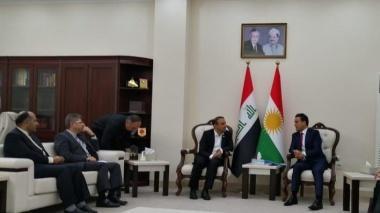 رئیس دانشگاه کردستان با وزیر آموزش عالی اقلیم کردستان عراق ملاقات کرد
