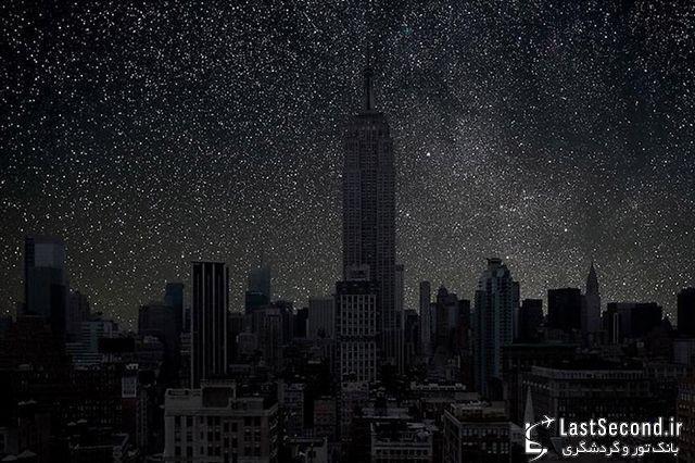 در خاموشی مطلق شهر، آسمان شب به چه شکل خواهد بود؟