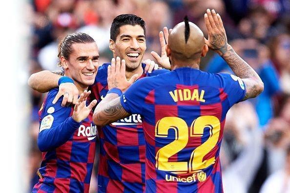 بارسلونا سال 2019 را با یک پیروزی پر گل به انتها رساند