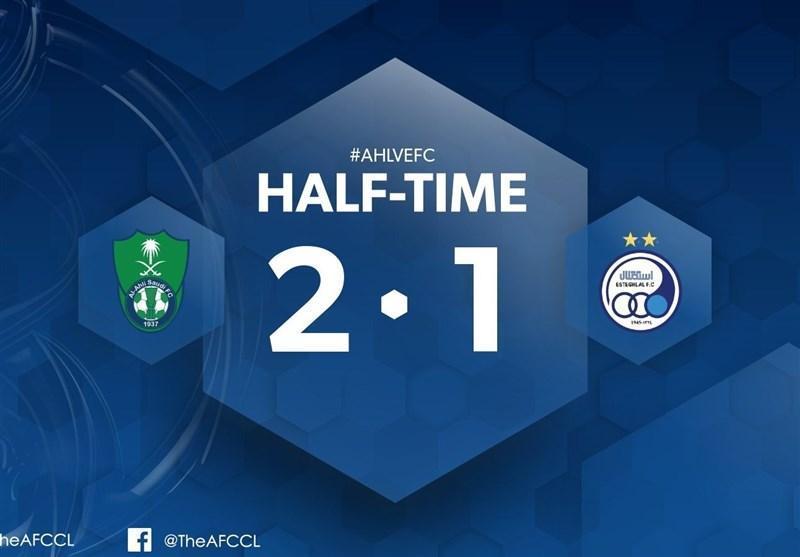 لیگ قهرمانان آسیا، شکست یک نیمه ای استقلال مقابل الاهلی، غفوری پنالتی آبی ها را از دست داد