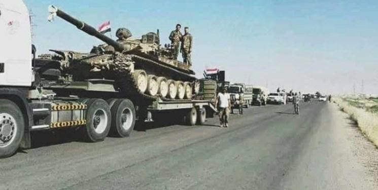 ارسال 120 کامیون تجهیزات نظامی ارتش سوریه به رقه