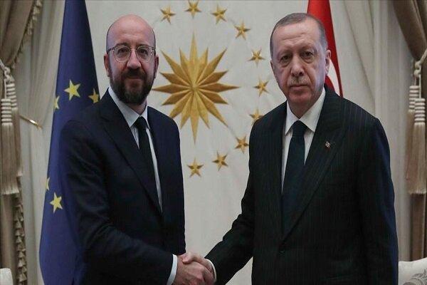 اردوغان با رئیس شورای اروپا ملاقات کرد