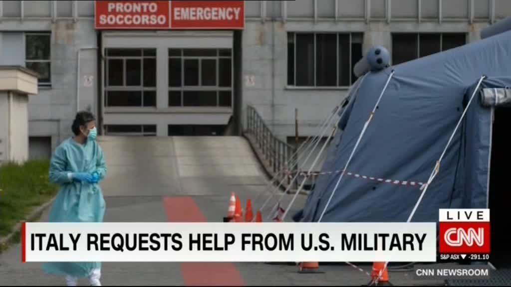 درخواست کمک ایتالیا از ارتش آمریکا برای مهار کرونا