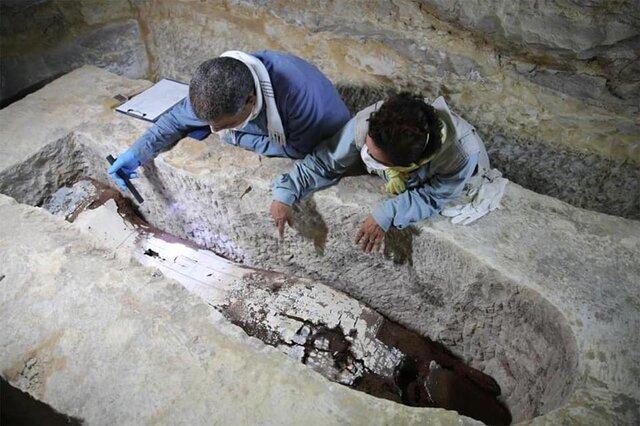 تابوت های باستانی مصریان داخل دالان مخفی بود