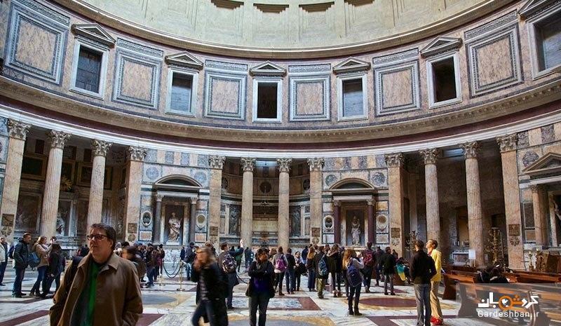 معبد پانتئون؛از حیرت انگیزترین و قدیمی ترین معبدهای رم، عکس
