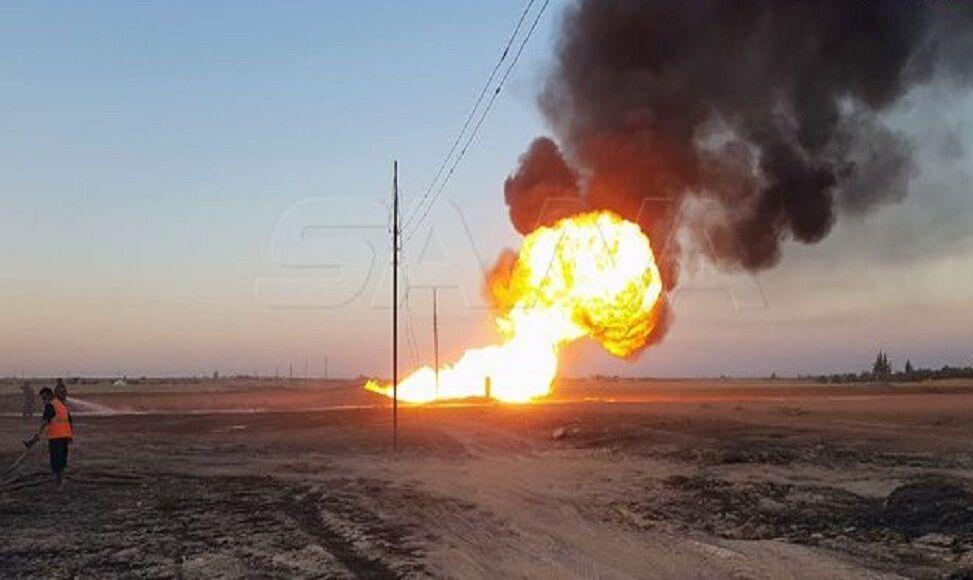 وزیر نفت سوریه: انفجار خط اصلی گاز حمله تروریستی است