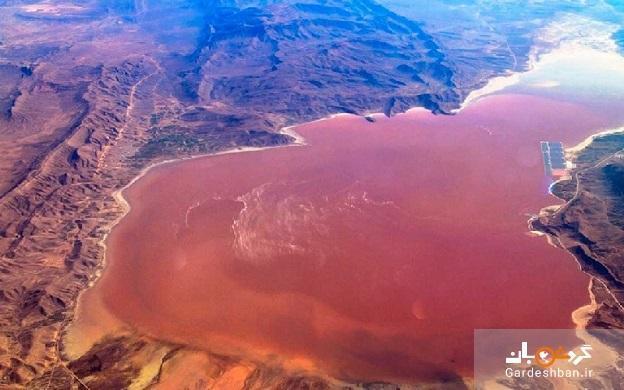 دریاچه صورتی مهارلو؛از زیباترین چشم اندازهای طبیعی شیراز، عکس