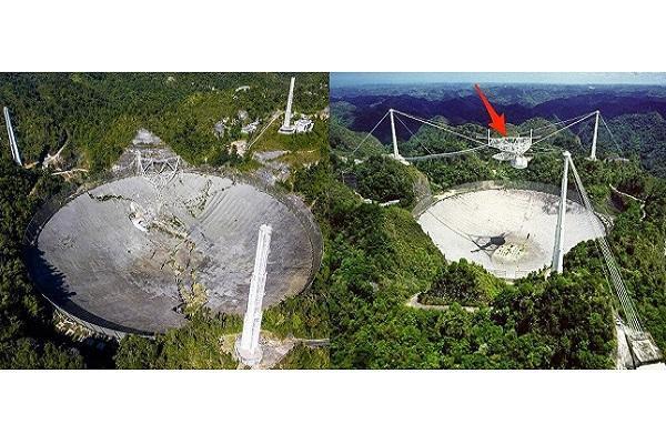 دومین تلسکوپ رادیویی عظیم جهان تخریب شد