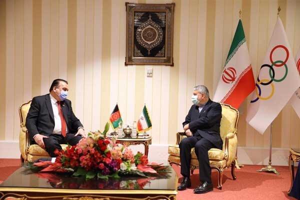 حضور هیات ورزش افغانستان در کمیته المپیک و دیدار با صالحی امیری