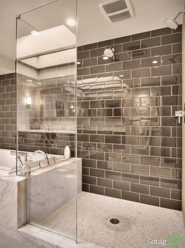 انواع رنگ کاشی حمام با طرح های متنوع مناسب حمام های کوچک